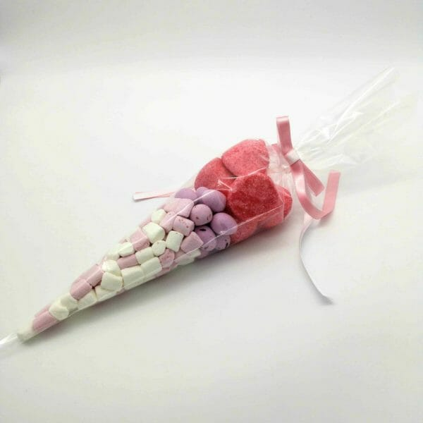 Pink and White Sweet Cones image