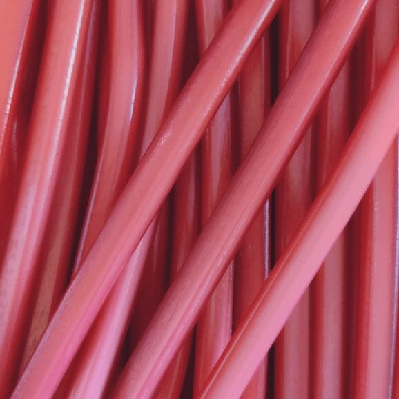 Close up of Strawberry pencil sweets