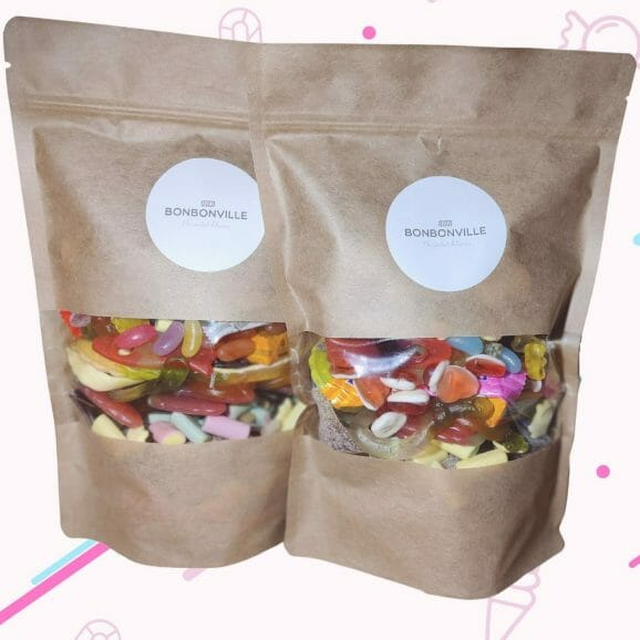 2 1kg pouch of Haribo sweets